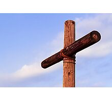 Old Rugged Cross Side View Photographic Print