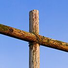 Rugged Wooden Cross by Kenneth Keifer