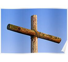 Rugged Wooden Cross Poster