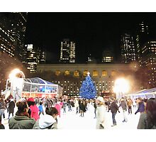 Bryant Park Skating Rink, New York  Photographic Print