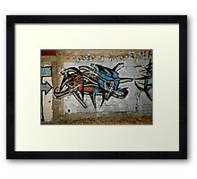Wild Red And Blue Graffiti Framed Print