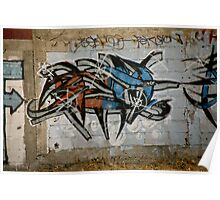 Wild Red And Blue Graffiti Poster