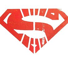 Superman Segmented Logo (White Background) by JoshBeck
