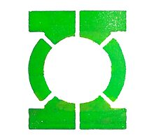 Green Lantern Segmented Logo (White Background) by JoshBeck