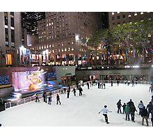 Rockefeller Center Skating Rink at Night, New York  Photographic Print
