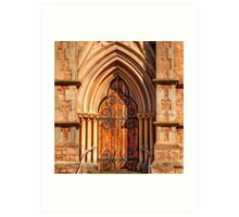 The Church Door & surrounds. Art Print