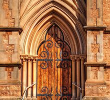 The Church Door & surrounds. by Simon Bannatyne