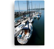 Sailboats at the Pier Canvas Print