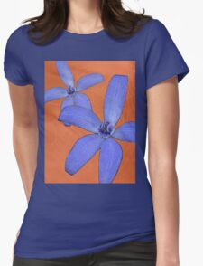 Silky Blue Orchid with Web Womens Fitted T-Shirt