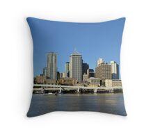 Brisbane River- view to city Brisbane Australia Throw Pillow