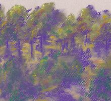 Distant Grove (pastel) by Niki Hilsabeck
