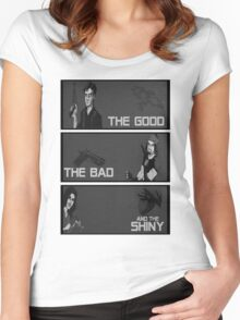 The good,the bad and the SHINY! Women's Fitted Scoop T-Shirt