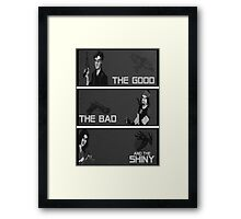 The good,the bad and the SHINY! Framed Print