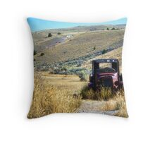 Broken Down in Bannack Throw Pillow