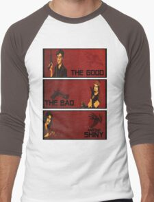 The good,the bad and the SHINY! Men's Baseball ¾ T-Shirt