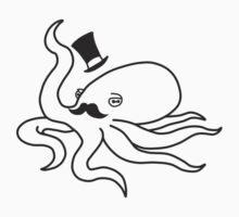 Gentleman Octopus (Black) by Richnroch