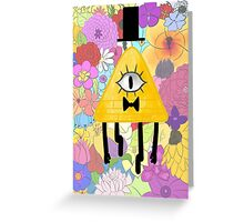Floral Bill Cipher Greeting Card