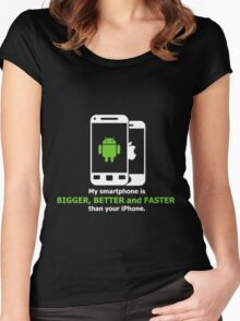 My smartphone is better Women's Fitted Scoop T-Shirt