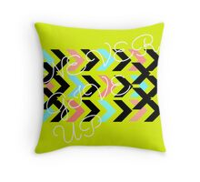 Never Give Up Final (White) Throw Pillow