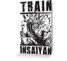 TRAIN INSAIYAN - Super Saiyan Goku Greeting Card