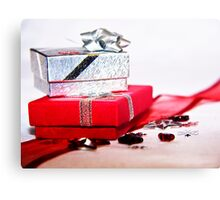 Red and Silver Gifts Canvas Print