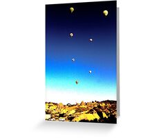 Balloon Rise Sunrise Greeting Card