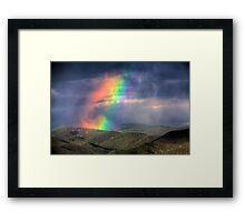 Violent Rainbow -- Sunset storm in the Sangre de Cristos Framed Print