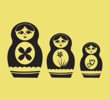 Babushka Dolls One Piece - Short Sleeve