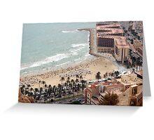 Alicante Town Beach Greeting Card