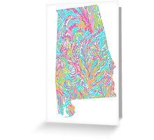 Lilly States - Alabama Greeting Card