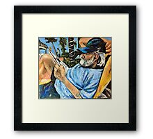 Lounging By the Pool Framed Print