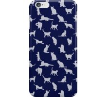 Cats Pattern: Blue iPhone Case/Skin