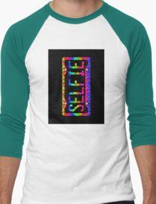 SELFIE PHONE COVER - rainbow cubes Men's Baseball ¾ T-Shirt