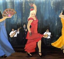 Flamenco scene by shearart