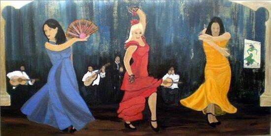 Flamenco scene by shearart