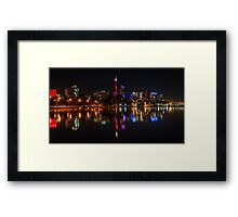Perth Night Skyline Framed Print