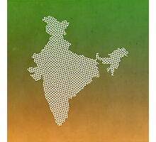 India abstract geometric pattern map Photographic Print