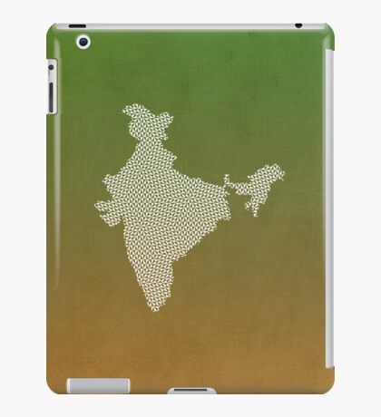 India abstract geometric pattern map iPad Case/Skin