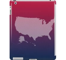 United States of America abstract geometric pattern map iPad Case/Skin