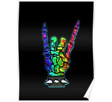 HEAVY METAL HAND SIGN - rainbow cubes Poster
