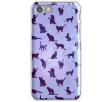 Cats Pattern: Universe iPhone Case/Skin