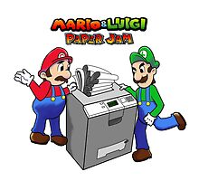 Mario and Luigi Paper Jam by Artegan