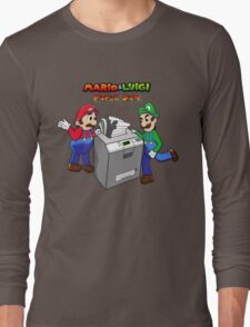 Mario and Luigi Paper Jam Long Sleeve T-Shirt