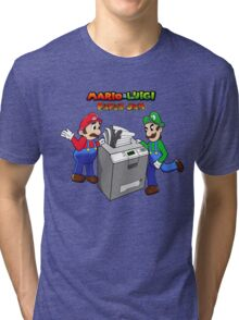 Mario and Luigi Paper Jam Tri-blend T-Shirt