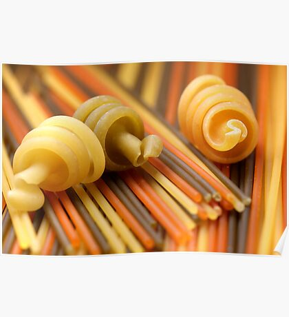 Tre Colori With Snails Poster