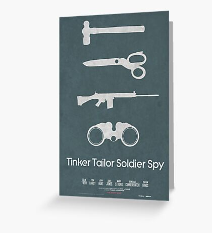 Tinker Tailor Soldier Spy Greeting Card