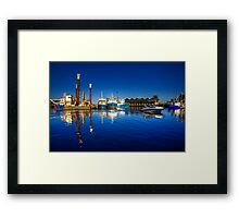 Freemantle Harbour Framed Print