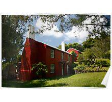 Old Red Cottage, Warwick Parish, Bermuda Poster