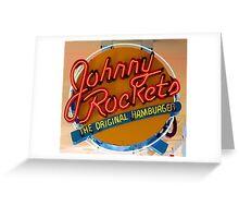 JOHNNY ROCKETS HAMBURGERS Greeting Card