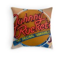 JOHNNY ROCKETS HAMBURGERS Throw Pillow